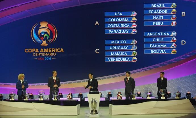 Sorteio Copa América Centenário (Foto: Reprodução / Twitter)