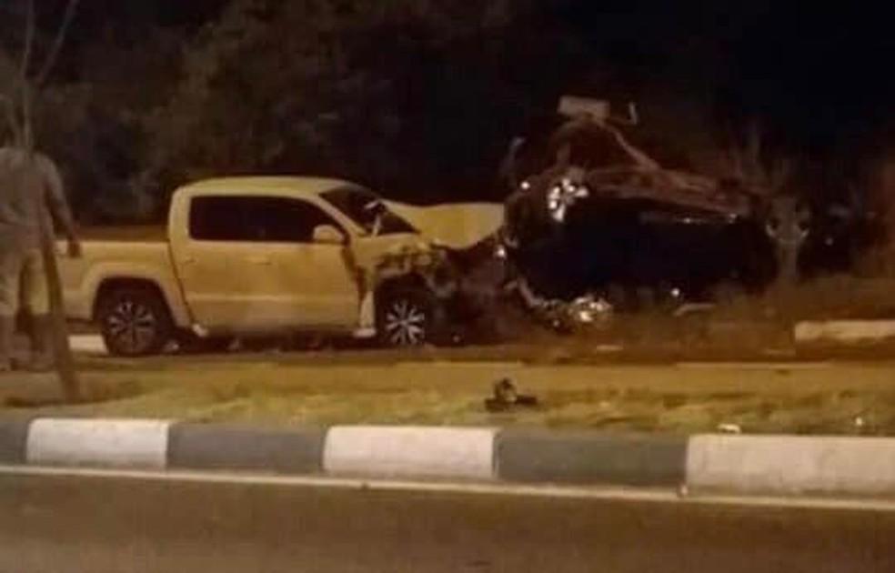 Acidente ocorreu na noite desse sábado (15), no bairro Caçari — Foto: Reprodução/Facebook