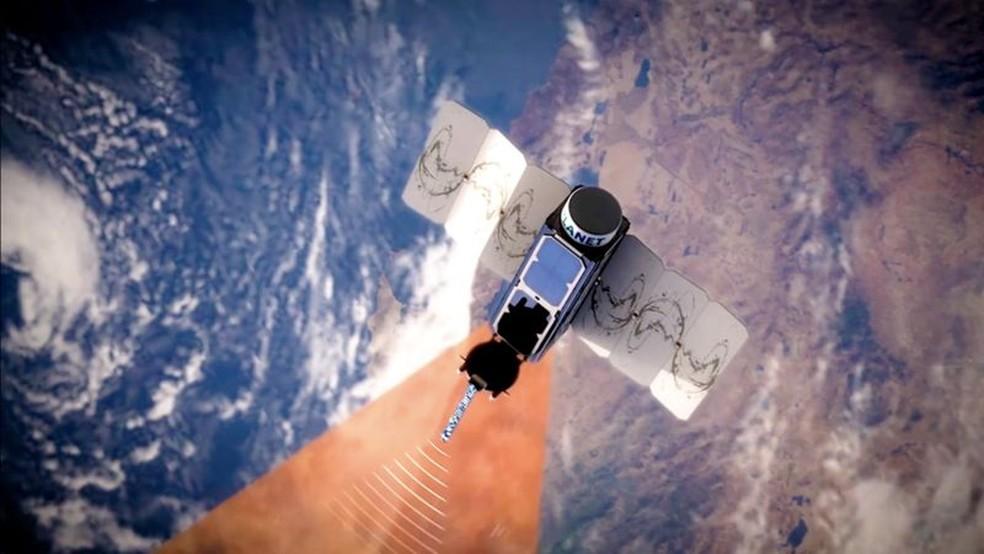 Satélites Dove obtêm imagens de toda a superfície terrestre da Terra uma vez por dia — Foto: Planet Labs Inc via BBC