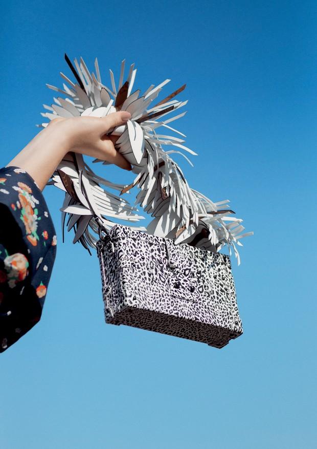 Bolsa Petite Malle de couro com estampa animal print, R$ 35.500, e alça de couro, R$ 7.950 (Foto: Gleeson Paulino)
