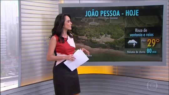 Previsão de mais chuva na Paraíba