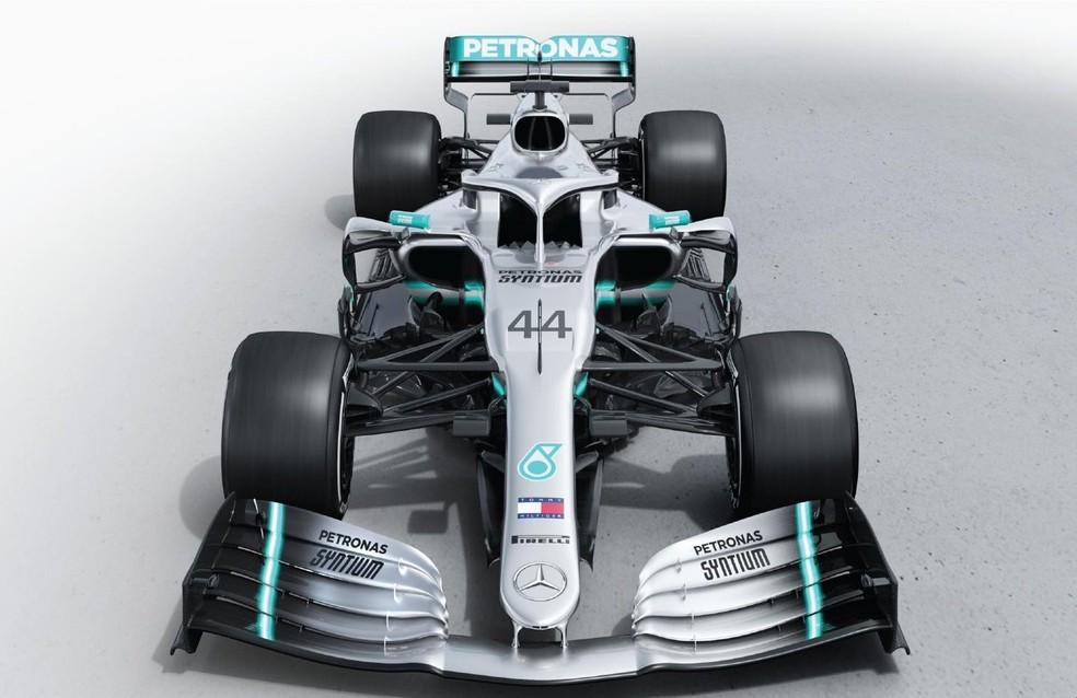 Novo carro da Mercedes mantém basicamente a pintura dos últimos anos — Foto: Divulgação
