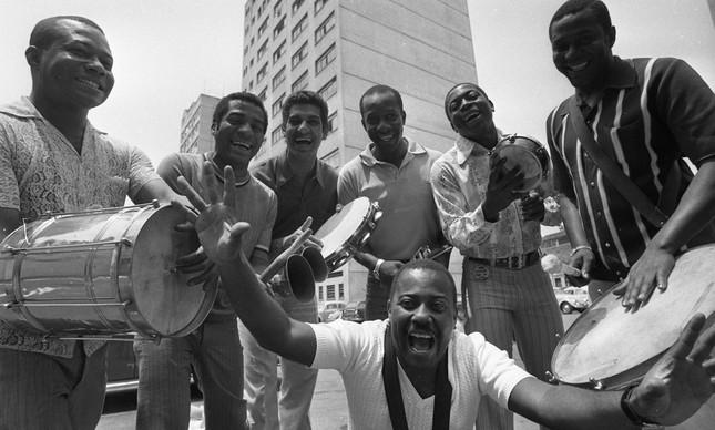 Os Originais do Samba em foto tirada no Rio de Janeiro, em 26 de janeiro de 1971