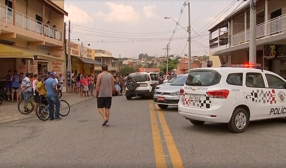 Comerciante fugiu após disparar contra três bandidos em Sorocaba  — Foto: Reprodução/ TV TEM