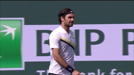 Em tie-break quente, Federer vence Del Potro por 10-8 e vai para o terceiro set