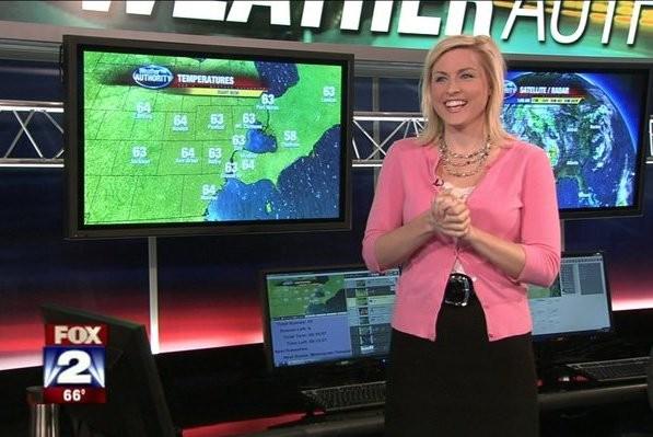 A apresentadora e jornalista Jessica Star trabalhando pelo canal Fox 2 Detroit (Foto: Facebook)