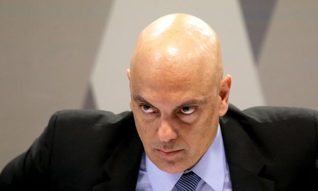 Alexandre de Moraes durante sua sabatina na CCJ do Senado, em 21 de fevereiro de 2017
