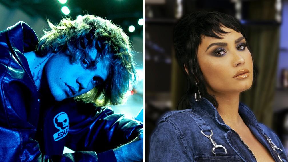 Justin Bieber e Demi Lovato são atrações do Rock in Rio 2022 — Foto: Divulgação