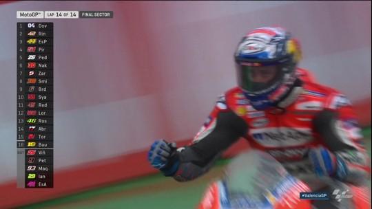 Dovizioso supera Rins após bandeira vermelha e vence o GP de Valência da MotoGP