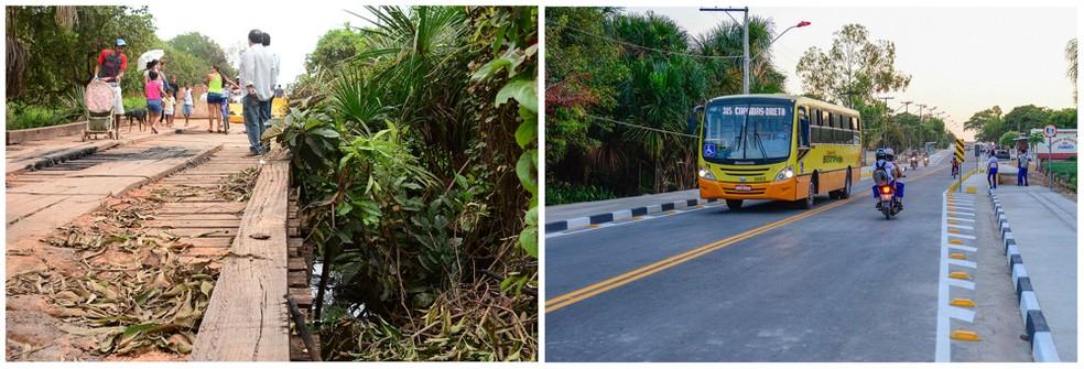 Rua João Pessoa, no Nova Cidade, recebeu investimentos de infraestrutura.  — Foto: PMBV.