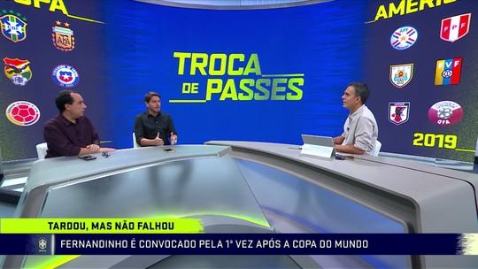 Comentaristas criticam ausência de Fabinho e presença de Fernandinho na lista de Tite