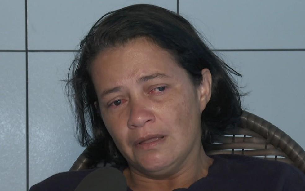 Joseane é mãe de Leandra Gennifer, morta dentro de casa  — Foto: Reprodução/TV Globo