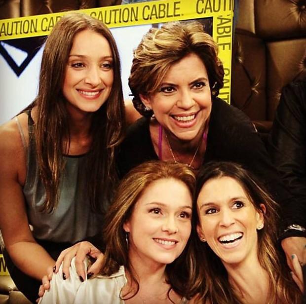 As ex-VJs: Sabrina Parlatore, Astrid Fontenelle, Cuca Lazzarotto e Sarah Oliveira (Foto: Reprodução / Instagram)