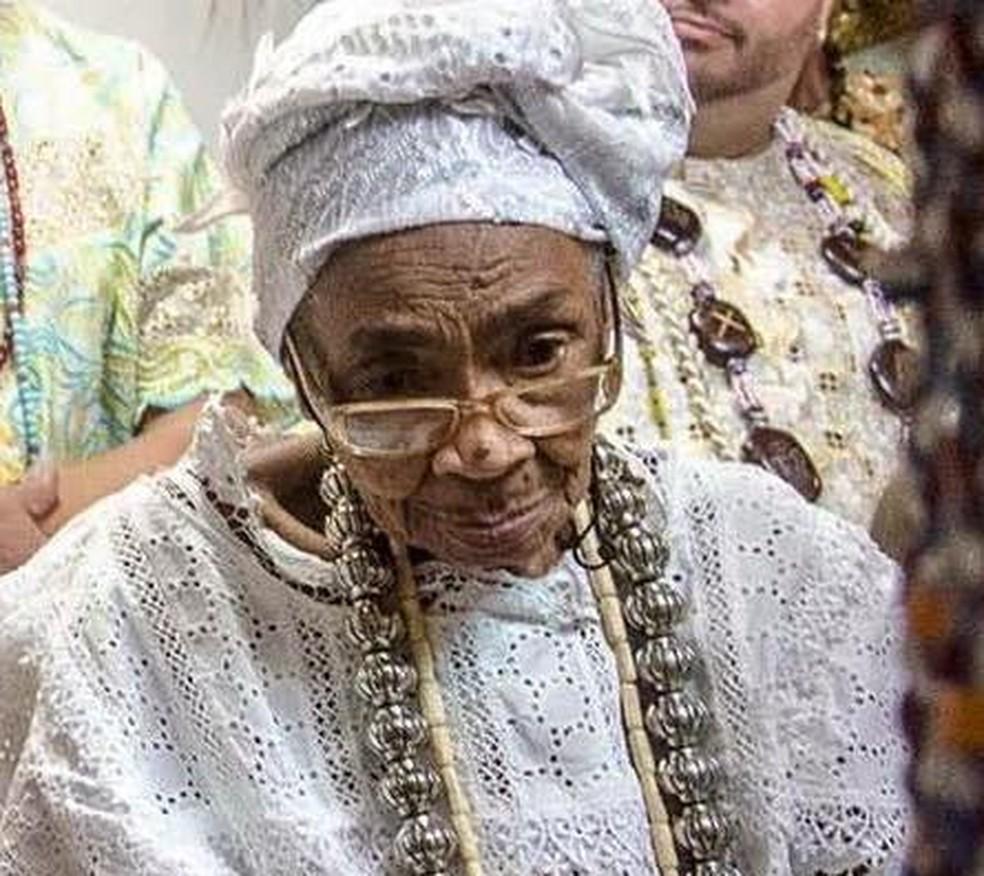 Mãe Cotinha de Oxalá morre aos 99 anos em Salvador — Foto: Redes Sociais