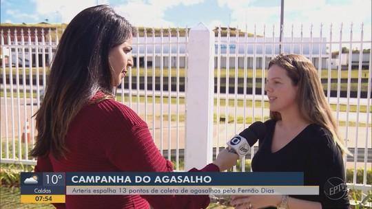 Campanha de agasalho na Rodovia Fernão Dias recolhe doações em pontos do Sul de MG