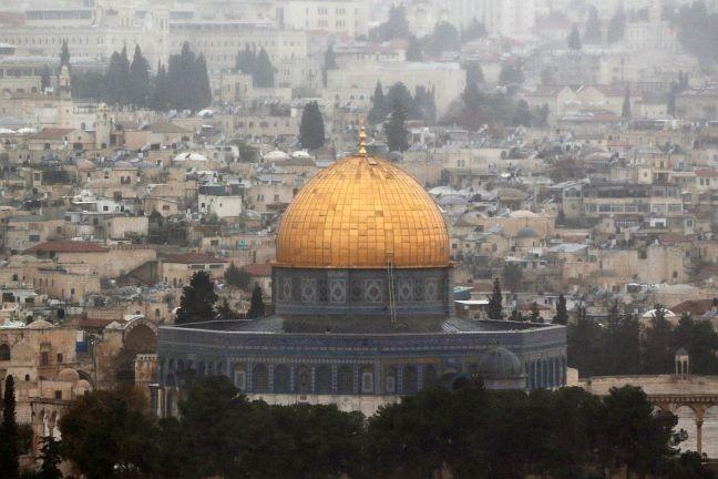 A cidade velha de Jerusalém nesta sexta-feira, 06/12/2017 (Foto: Ammar Awad/ Reuters / G1)