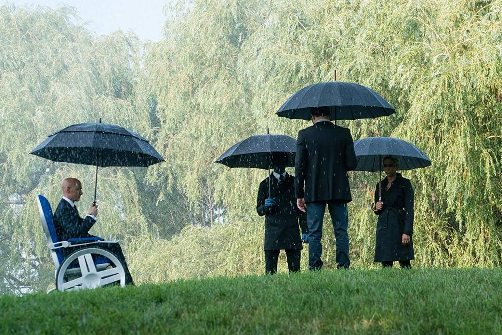 James McAvoy, Kodi Smit-McPhee, Alexandra Shipp e Tye Sheridan em cena de'X-Men: Fênix Negra' — Foto: Divulgação