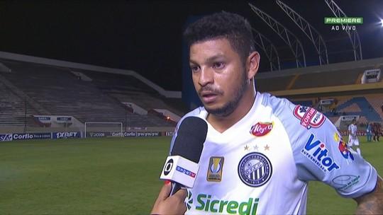 """Ao sair do gramado, Felipe Alves analisa """"ruim"""" sua estreia pelo Operário-PR"""