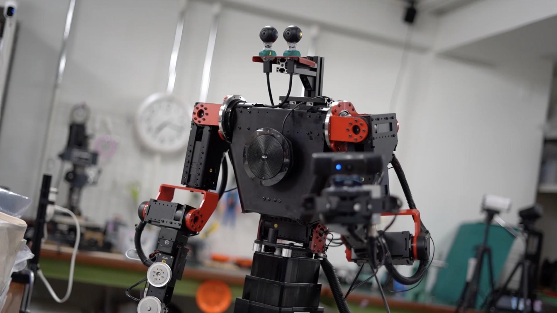 Em 2020, robôs de telepresença devem realizar atividades na ISS.  (Foto: Divulgação: GITAI)