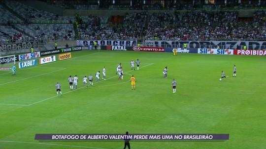 Botafogo perde para o Atlético-MG e sai da zona de classificação para a Sul-Americana