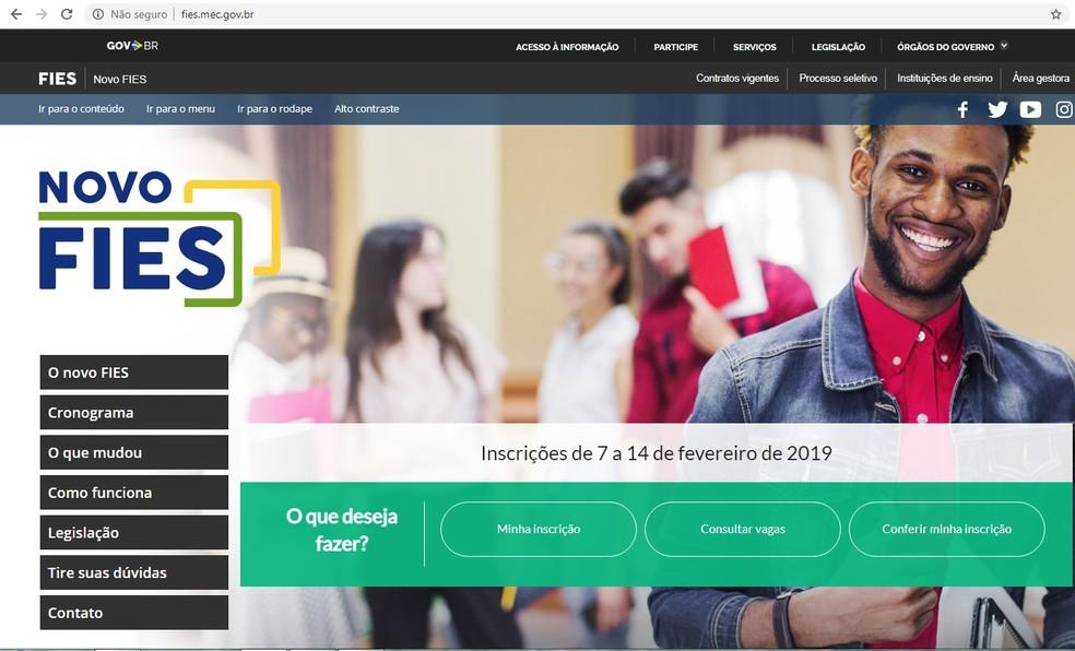 Fies ofereceu 100 mil vagas a juro zero no primeiro semestre de 2019 — Foto: Reprodução