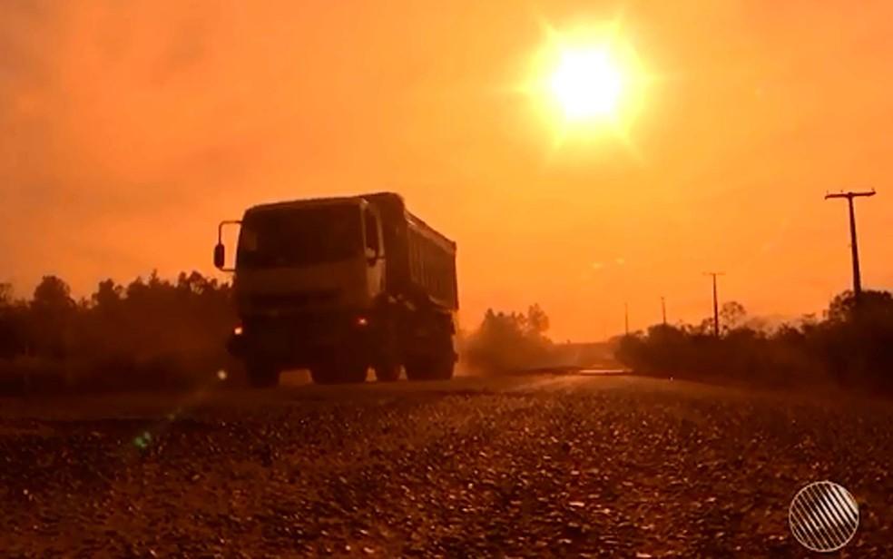 Roubos de cargas em rodovias que cortam o estado têm aumento de mais de 100% em seis anos, aponta pesquisa (Foto: Reprodução/TV Bahia)