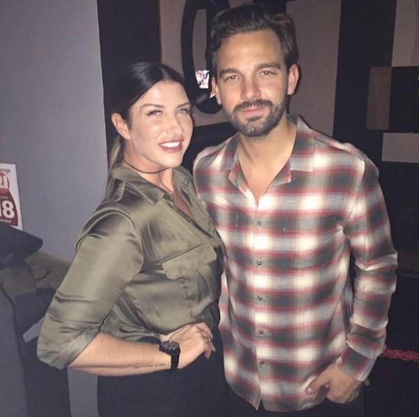 A irma de David Beckham, Joanne, com seu ex (Foto: Instagram)