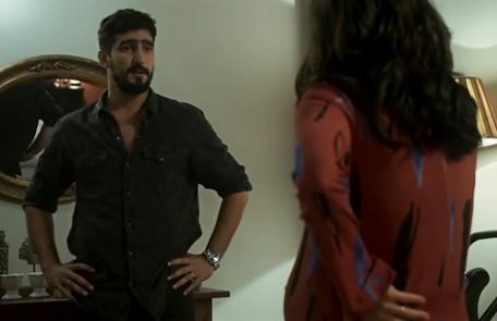 Na quinta (16), Jamil terá uma crise de ciúmes ao ver Laila com Bruno Reprodução