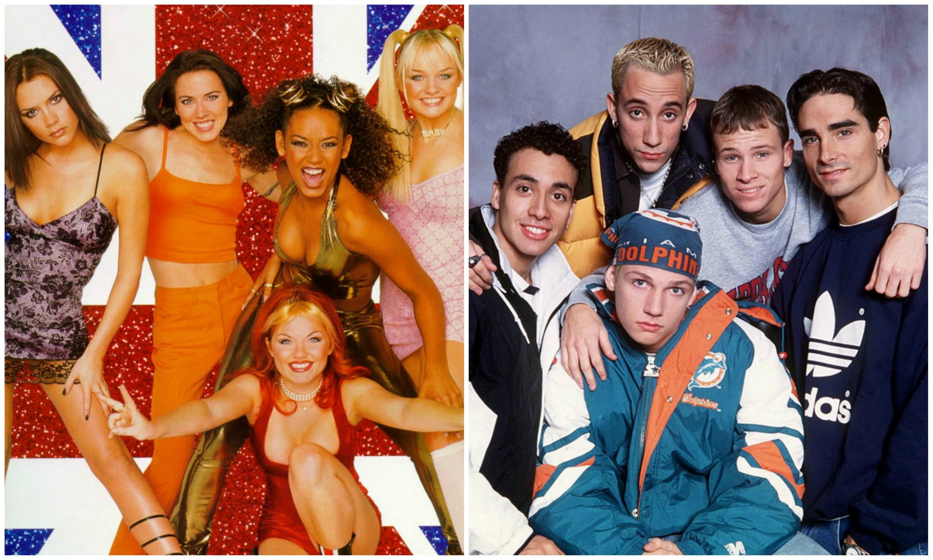 Spice Girls e Backstreet Boys nos anos 1990. (Foto: Divulgação)