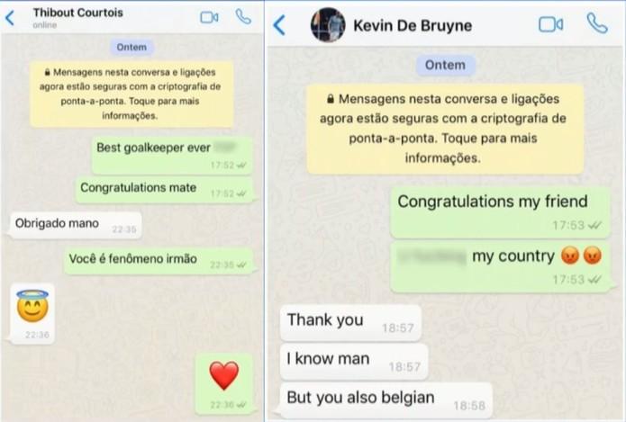 João Carlos conversa com jogadores da Bélgica (Foto: Reprodução)
