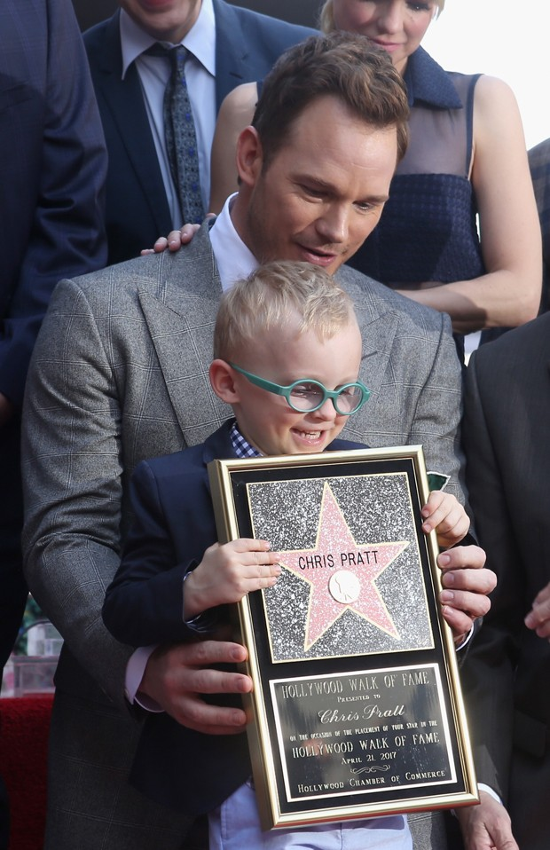 Chris Pratt e Jack (Foto: Getty Images)