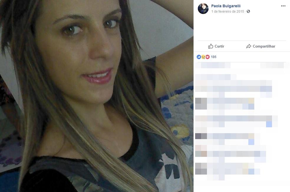 Paola Bulgarelli foi estuprada e morta por homem que confessou o crime em Araçatuba (SP). (Foto: Reprodução/Facebook/Paola Bulgarelli)