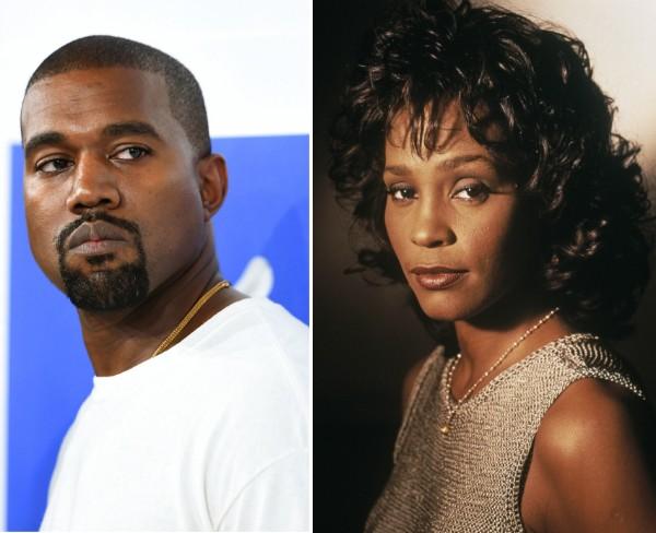Kanye West e Whitney Houston (Foto: Getty Images)
