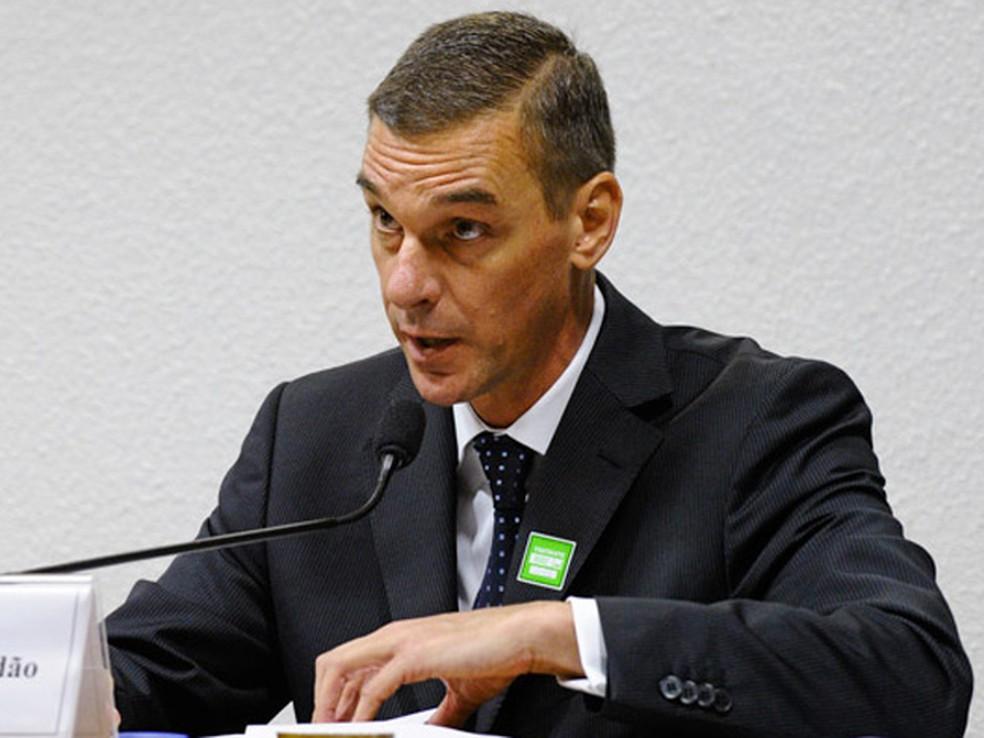 O presidente do HSBC, André Brandão, em audiência no Senado em 2015 — Foto: Edilson Rodrigues/Agência Senado
