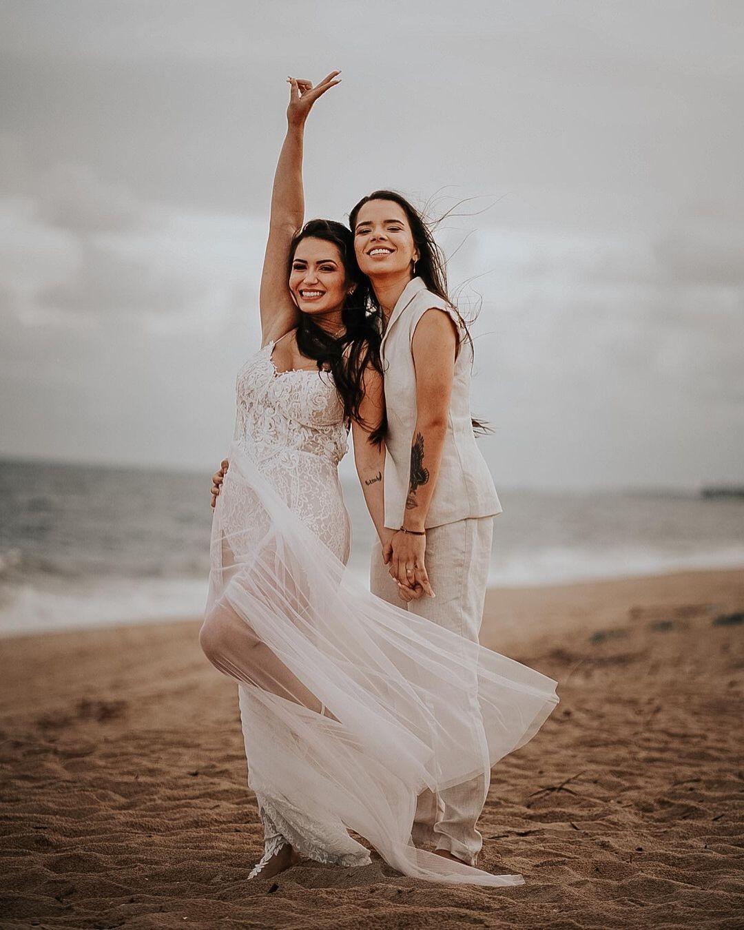 Maria Clara e Fernanda Aguiar fazem ensaio pós casamento (Foto: Aldenor Junior)