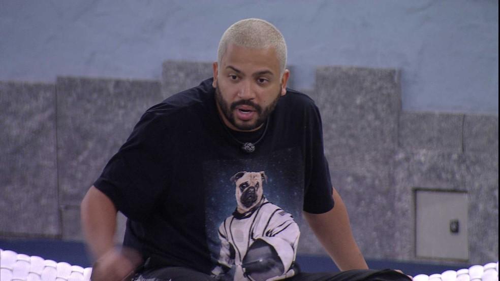 Projota critica jogo de Gilberto no BBB21: 'O mais traiçoeiro'  — Foto: Globo