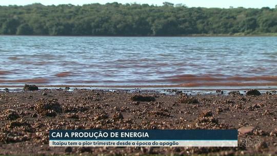 Itaipu tem pior trimestre na produção de energia desde apagão de 2001
