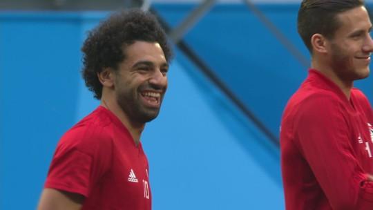 """Ainda dúvida contra a Rússia, Salah tem """"Dia D"""" pelo Egito na Copa do Mundo"""