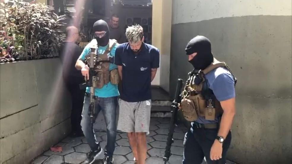 Ezequiel foi preso no RJ — Foto: Divulgação/PM-RJ