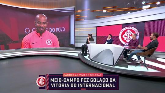 """Patrick brinca com pênalti perdido na classificação do Internacional: """"Bati melhor que todo mundo"""""""