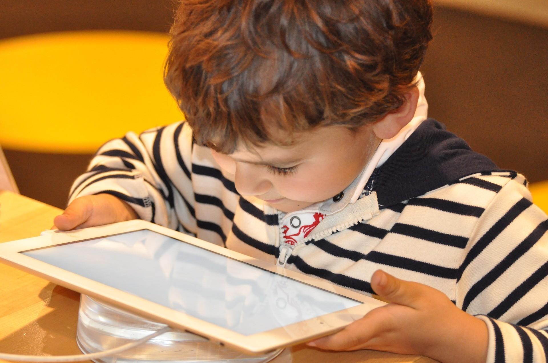 criança com ipad (Foto: Nadine Doerlé/Pixabay )