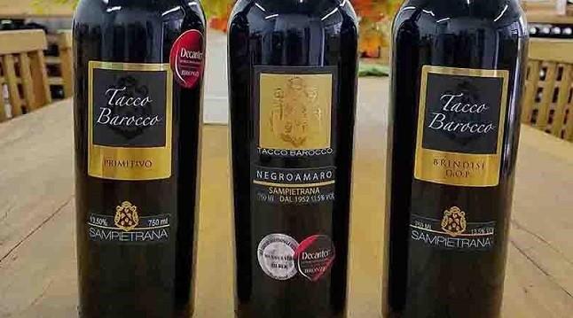 Três vinhos da italiana Cantina Sampietrana