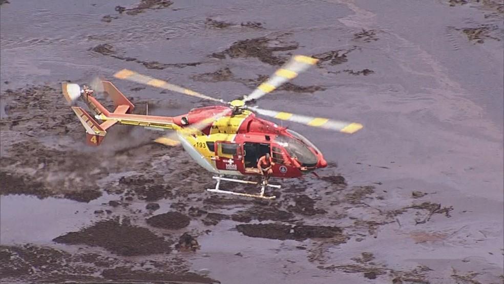 Chega a 200 o número de mortos no desastre da Vale em Brumadinho — Foto: Globo