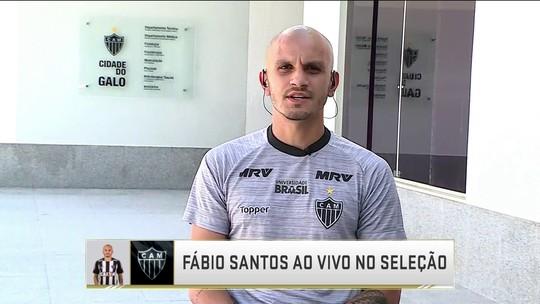 Fábio Santos fala sobre elenco do Atlético-MG e adaptação a diferentes clubes na carreira