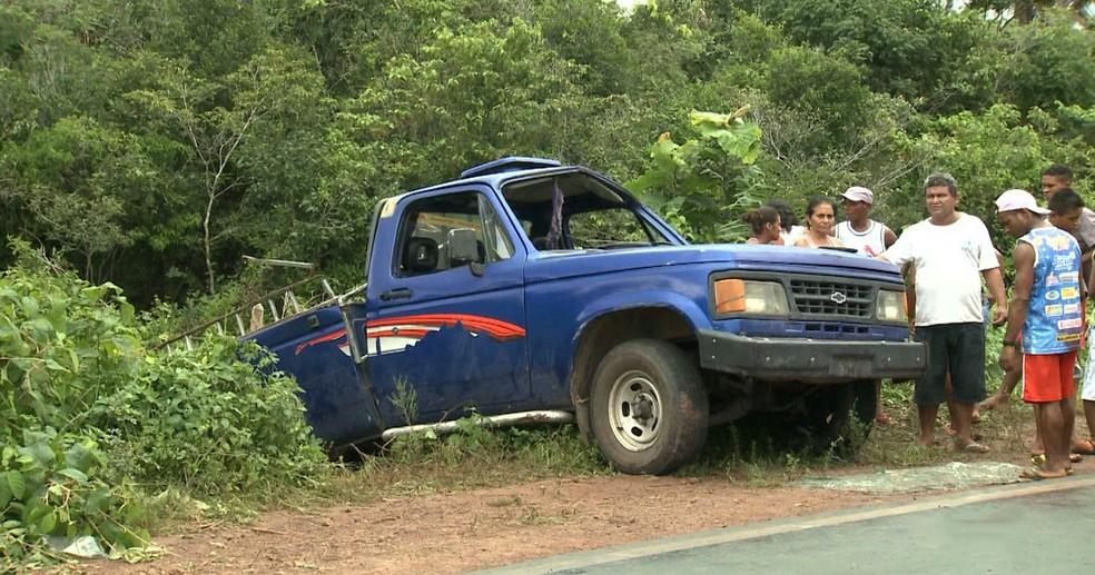 Oito pessoas morreram durante o acidente envolvendo uma caminhonete 'pau-de-arara' em Bacuri (MA) — Foto: Divulgação/Defensoria Pública do Maranhão (DPE-MA)