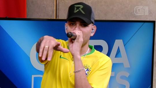 Copa de Hits: MC WM simula Brasil x Suíça no 'Fifa 18' e fala sobre 'Copa do Bumbum' e 'Fuleragem'