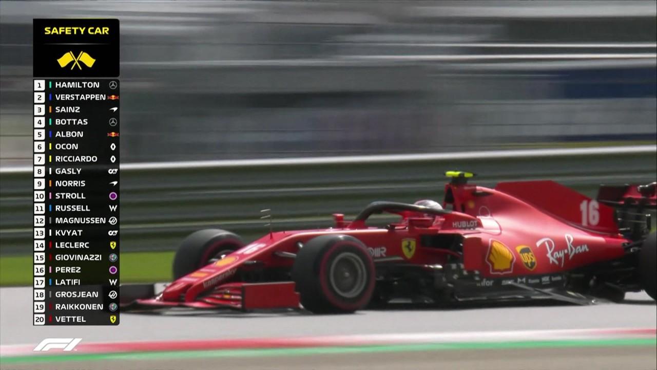 Confira a largada do GP da Estíria da Fórmula 1