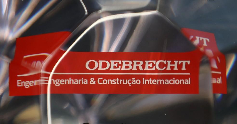 Logo da Odebrecht — Foto: Paulo Whitaker/Reuters