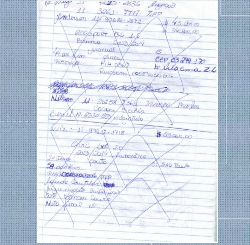 Caderno sugere contabilidade de facção dentro da cadeia — Foto: TVCA/Reprodução