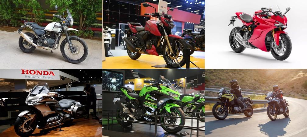 Motos esperadas para o 2º semestre de 2018 no Brasil — Foto: Rafael Miotto/Marcelo Brandt/Fabio Tito/G1/Divulgação